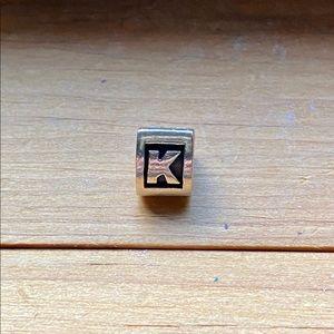 Pandora Charm - Letter 'K'